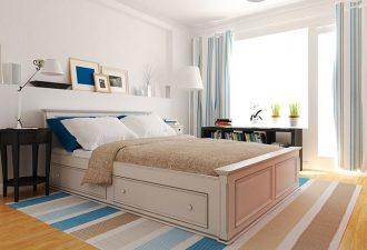 Скандинавский стиль в спальне 2017 фото (11)