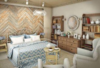 Скандинавский стиль в спальне 2017 фото (2)