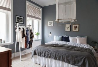 Скандинавский стиль в спальне 2017 фото (3)