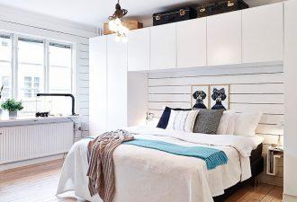 Скандинавский стиль в спальне 2017 фото (6)