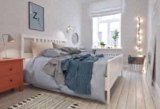 Скандинавский стиль в спальне 2017 фото (7)