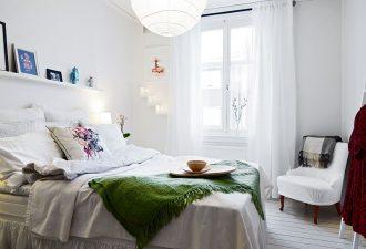 Скандинавский стиль в спальне 2017 фото (8)