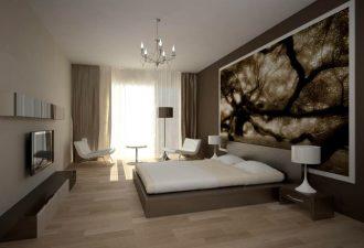 Стиль минимализм в спальне 2017 фото (3)