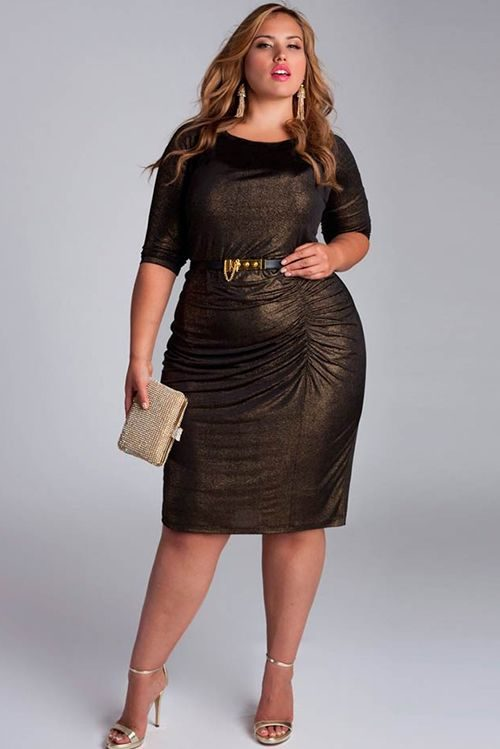 Модные платья для  женщин ХХL в 2018 году. Как выглядеть стильно?