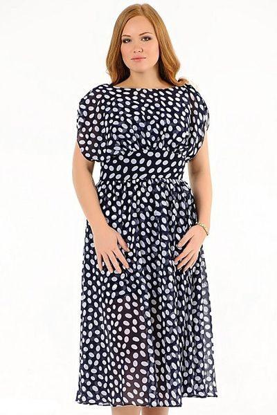 Модные платья для полных девушек и женщин 2018 - фото и видео