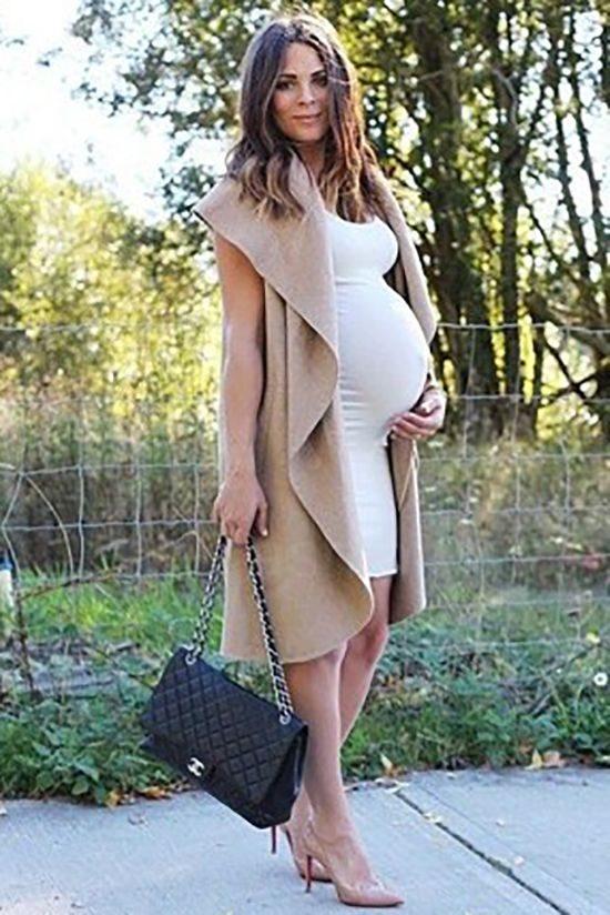 Мода для беременных осень-зима 2017- 2018