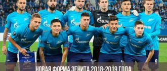 Новая форма Зенита 2018-2019 года