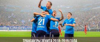 Трансферы Зенита 2018-2019 года