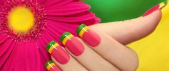 Яркий маникюр — оригинальные идеи дизайна ногтей в насыщенных оттенках