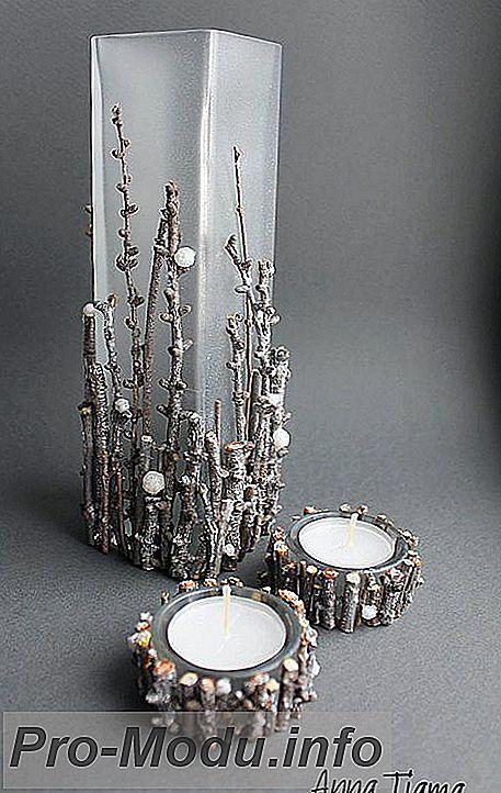 Красивый декор вазы своими руками